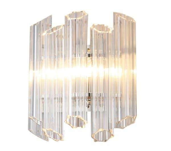Vegg Lampe Praha Med Klart Glass