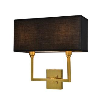 Vegg Lampe Gull Metall Med Sort Skjerm