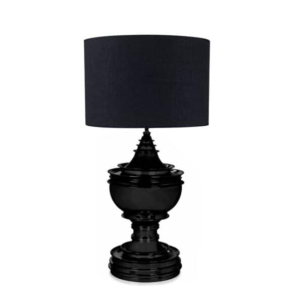 Bordlampe Spring Hill Sort Med Skjerm